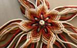 Объемный цветок из пряжи. Видео и