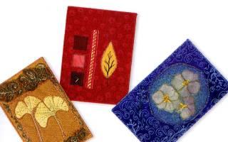 Поздравительные открытки с аппликацией из ткани. Мастер-класс
