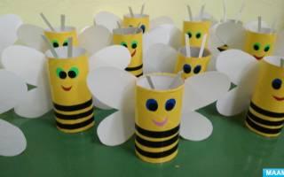 Поделки из бросового материала. Пчелки.