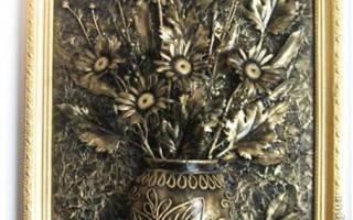 Объемное панно «Ваза с цветами». Мастер-класс