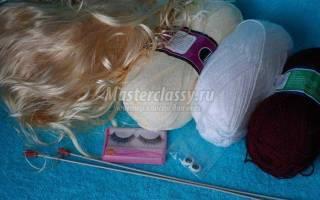 Мастер-класс по вязанию куклы спицами. Кукла Кристи