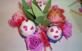 Подставка для пасхальных яиц из яичных лотков. Мастер-класс