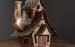 Декоративный домик из картона своими руками:  пошагово