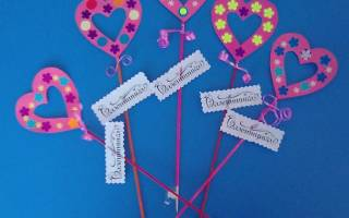Валентинки ко дню Святого Валентина. Мастер-класс