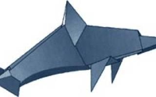 Оригами животные. Дельфин.