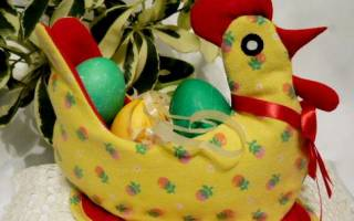 Мастер-класс. Пасхальные курочки из ткани для яиц