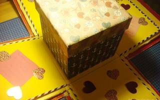 Подарки своими руками. Коробочка с секретом. Мастер класс с фото