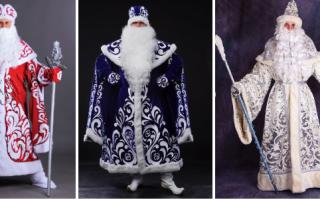 Костюм деда Мороза своими руками. Фото, выкройки и идеи