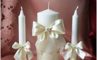 Свадебные свечи своими руками.