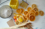Топиарий своими руками с апельсинами и шишками. Мастер класс