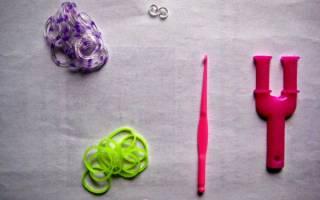 Плетение объемного браслета из резиночек на китайских палочках. Лучшее видео
