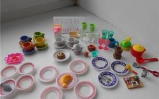 Кукольный набор посуды из полимерной глины. Мастер – класс