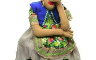 Текстильная кукла из капрона. Грелка на чайник.