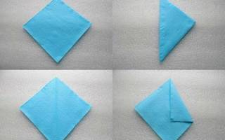Салфетка-оригами. Лебедь. Мастер класс