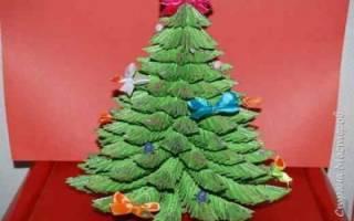 Модульное оригами. Новогодняя елка.