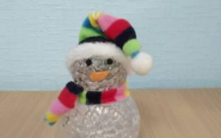 Снеговик из ткани своими руками в шапке и шарфе. Мастер-класс с пошаговым фото