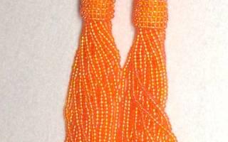 Мастер класс по плетению сережек-кисточек из бисера