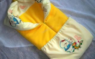 Демисезонное конверт — одеяло для выписки малышу.