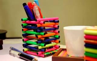 Подставка для карандашей и других разных мелочей. Мастер класс с фото