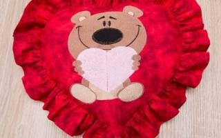 Валентинка — подушка. Мастер класс по пошиву