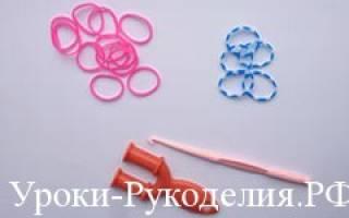 Кольцо из резинок с цветком на рогатке. Мастер-класс