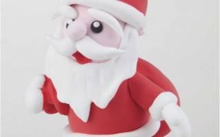 Дед Мороз из пластилина.