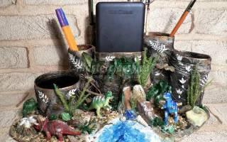 Органайзер для школьника «Мир динозавров». Мастер-класс пошагово с фото