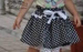 Пышная юбка для ребенка за 30 минут