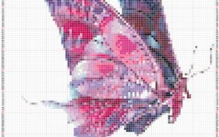 Картина из бисера. Цветы. Схема