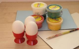 Пасхальный сувенир. Яйцо из пластилина.