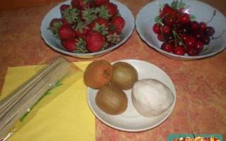 Букет из фруктов «Нежность».