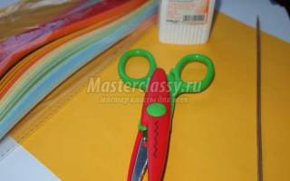 Поздравительная открытка своими руками с цветами. Квиллинг мастер класс
