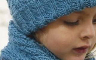 Вязаная шапочка спицами для девочки.