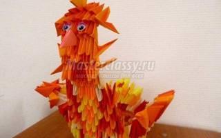 Модульное оригами. Курочка «Пеструшка».