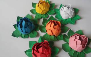 Оригами: цветы из бумаги. Делаем вместе. ТОП — 50 идей и мастер-классов!