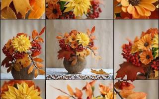Осенний букет из природного материала. Мастер-класс