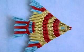 Модульное оригами. Рыбка.