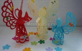 Пасхальные сувениры. Ангел из бумаги в технике киригами.