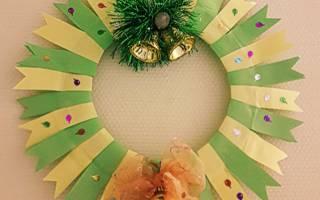 Новогодние поделки из бумаги. Рождественский венок.