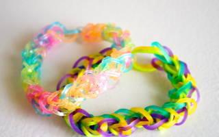 Мастер-класс. Браслет из резинок rainbow loom с двойным плетением