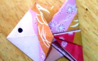 Морской пейзаж «Золотые рыбки». Оригами. Мастер-класс