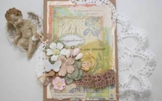 Поздравительные открытки в стиле шебби-шик. Мастер-класс