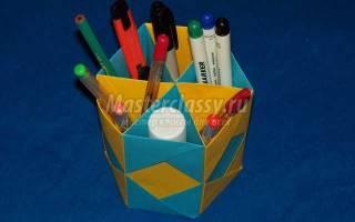 Оригами. Карандашница.