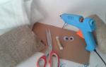 Домовёнок из ткани и картона своими руками.