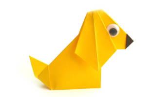 Оригами для детей. Собачка.