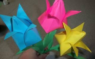 Цветы тюльпаны из бумаги — простая поделка