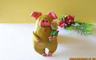 «Желтая свинка» — символ года 2019 из пластилина и подручных материалов. Пошаговый мк с фото