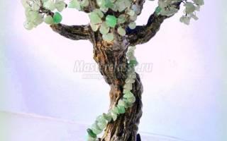 Деревья из натуральных камней. Нефритовый дуб.