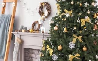 Как украсить новогоднюю ёлку к празднику.
