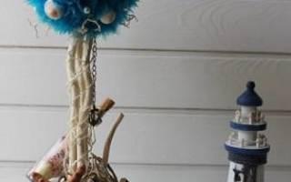 Морской комплект своими руками: часы, фоторамки, топиарий, водопад. Мастер-класс. Часть 2
